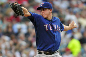 Derek Holland rebounded with a strong performance on Monday. (Jason Miller/Getty Images)