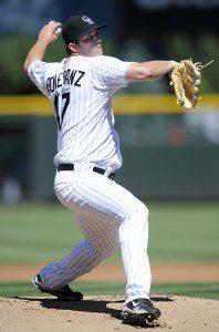 Drew Pomeranz was effective in his major-league debut on Sunday. (AP/Jack Dempsey)