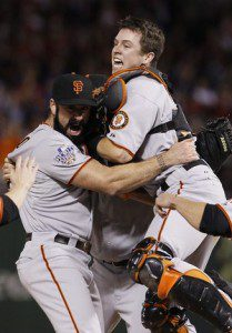 A full season of Brian Wilson and Buster Posey will go a long way in helping the San Francisco Giants get back to the playoffs.(Matt Slocum/The Associated Press)