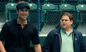 Brad Pitt and Jonah Hill are both nominated for Oscars for Moneyball, which also received a Best Picture nomination.