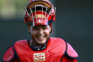 You'd be all smiles, too, if you signed the deal Yadier Molina just did with the St. Louis Cardinals. (Marc Serota/Getty Images)