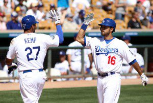 Matt Kemp and Andre Ethier are making it look easy for the 5-1 Los Angeles Dodgers. (Christian Petersen/Getty Images)