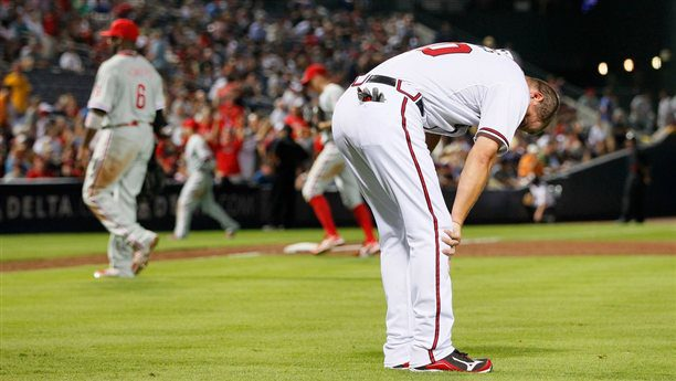 Most Braves fans are already ready to bend over and give up. (Kevin C. Cox / Getty Images)