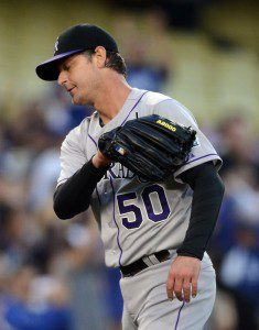Are Jamie Moyer's days numbered with the Colorado Rockies? (Harry How/Getty Images)