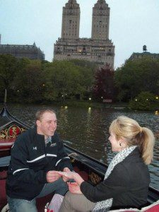 This is me, proposing in NYC on the Gondola.