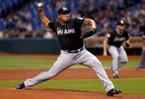 Carlos Zambrano, who didn't live up to his potential in Chicago, hasn't been consistent with the Marlins either. (J. Meric/Getty Images)