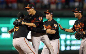 Baltimore Orioles fans are back to expecting more postseason celebrations in their future. (Ronald Martinez/Getty Images)