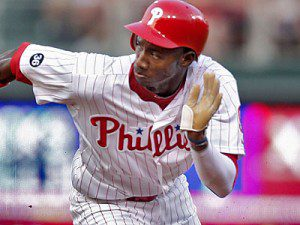 Philadelphia Phillies' Domonic Brown running the bases.