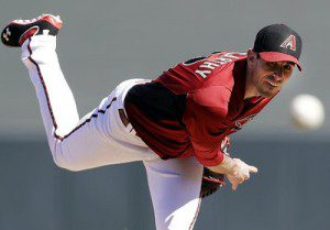 Arizona Diamondbacks pitcher Brandon McCarty pitches during spring training.