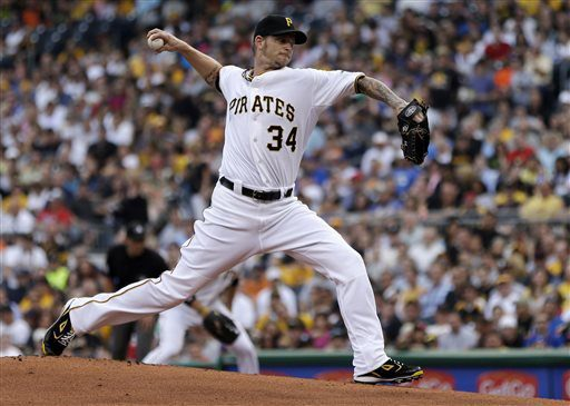 A.J. Burnett is one reason the Pirates are in the hunt in the NL Central. (The Associated Press)