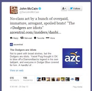 Source: AZCentral.com via John McCain's Fun Twitter Feed