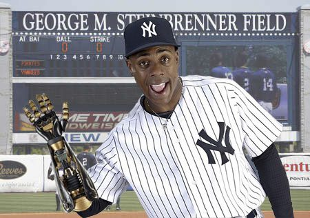 Curtis Granderson has a bionic arm.