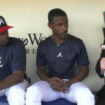 Justin and B.J. Upton being interviewed by Buster Olney.