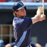 Wil Myers takes a cut during spring training for the Tampa Bay Rays.