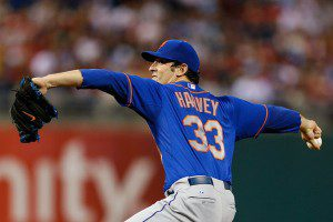 Matt Harvey throws a pitch for the New York Mets.