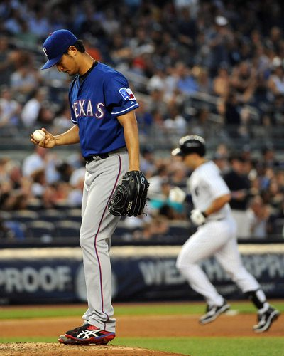Yu Darvish after giving up a home run.