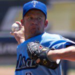 Roy Oswalt throws a pitch for the Tulsa Drillers.