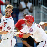 Bryce Harper is all smiles after his walk-off home run.