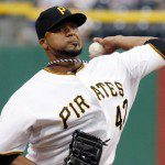 Francisco Liriano throws a pitch.