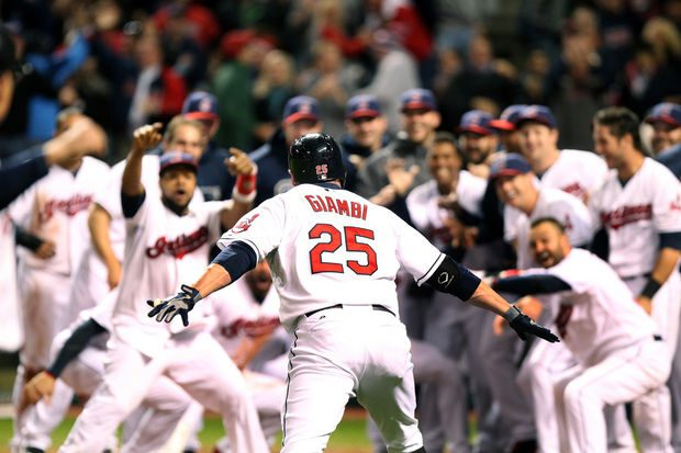 Jason Giambi kept the Cleveland Indians afloat with a late-September walkoff blast.