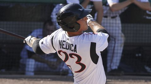 Tommy Medica gets a hit.